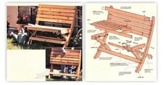 Portable Folding Bench Plans - Outdoor Furniture Plans and Projects | WoodArchivist.com
