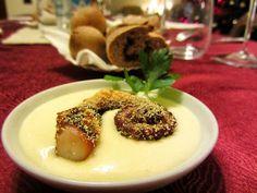 Polpo fritto in panure di mais su crema di patate ~ Il cucinAle.com