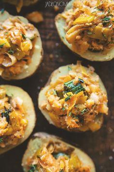 Ziemniaki faszerowane porami » Jadłonomia · wegańskie przepisy nie tylko dla wegan
