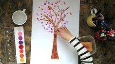 kid-play-do: Fingerprint Trees