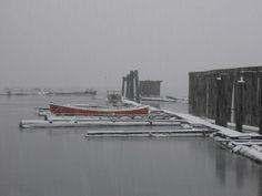 Holberg Boats in the Snow 2005 Vancouver Island, Idaho, Boats, New York Skyline, Canada, Snow, Building, Travel, Viajes