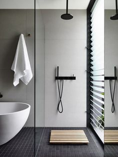 Minimal bathroom with garden view Gallery | Australian Interior Design Awards (Cool Bedrooms Walls)