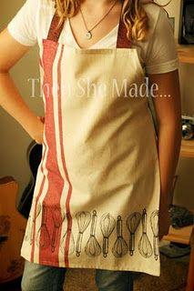 Quick Gift idea - dish towel apron