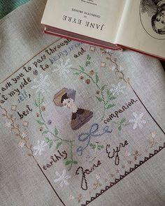 The Snowflower Diaries - Jane Eyre #allthebeautifulthings #crossstitch #crossstitching #sampler #thesnowflowerdiaries #janeeyre