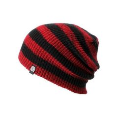 (13) Aperture Estebon Red Black Stripe Beanie ( 18) ❤ liked on... via  Polyvore featuring accessories 126f5000f0