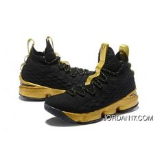 74ff8cfd759 LeBron James Nike LeBron 15 Mens Basketball Shoes Black Gold NBA Finals  Game 4 Copuon. Jugadores De BaloncestoZapatillas ...
