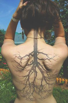 tree tattoo - like the structure of the branches but not the darkness of trunk