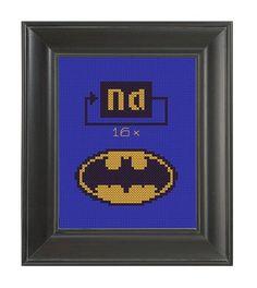Pattern Funny Cross Stitch Batman NaNaNaNa Rude by CrassCross, $5.00