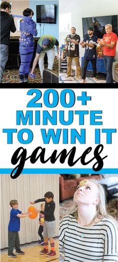 The best minute to win it games for kids for teens or even for adults! Over 200 fun games that are perfect for a family reunion for school for school parties and more! Easy games fun team games and more! Team Games For Kids, Fun Games For Adults, Youth Games, Minute To Win It Games For Adults, Youth Activities, Simple Games For Kids, School Games For Kids, Teen Games, Science Games