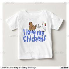 De T-shirt van het Baby van de Kippen van de