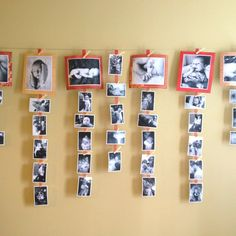 ideas for photo hanging - Google Search