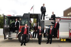 firefighter's wedding