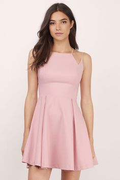 Rosé All Day Skater Dress at Tobi.com #shoptobi