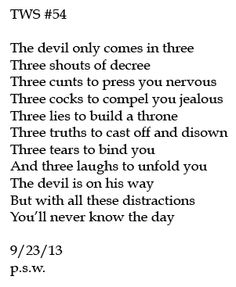 The Devil Comes in Three
