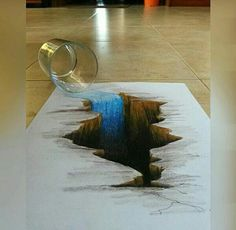 Drawings is an amazing form of art, where the pencil drawings seem to literally jump off the page. Most artists use graphite pencils for creating the look. Easy drawings are usually small Illusion Kunst, Illusion Drawings, 3d Illusion Art, 3d Pencil Drawings, 3d Art Drawing, Hole Drawing, Drawing Trees, Pencil Art, Amazing Drawings