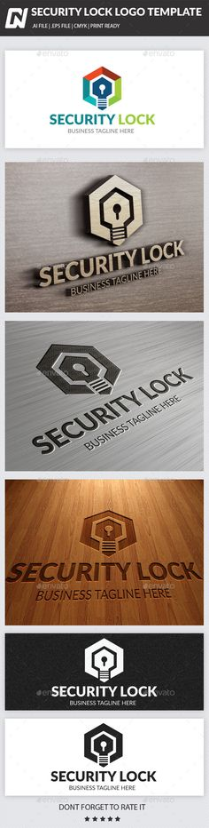 Security Lock Logo Template - Logo Templates