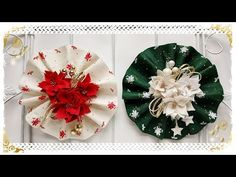 Fuori porta Natalizio Plissettato: facile & senza cucire - YouTube Gold Christmas, Christmas Crafts, Xmas, Christmas Tree, Christmas Ornaments, Pottery Barn Inspired, Different Textures, Diy Home Decor Projects, Diy Wreath