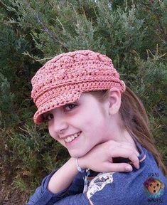 Cordial Cadet Cap free crochet hat pattern designed by Sick 'Lil Monkeys.