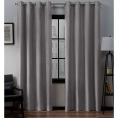 """71/""""x79/"""" Pair Curtains Blackout Fabric w//Hooks Made Eyelet Ring Top Waterproof"""