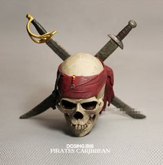 Pirates Of The Caribbean Captain Jack Pole Big Size Skull Model Action Figure Novelty Home Decoration