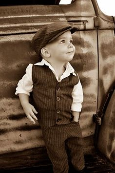 @Lindsey Carter  -- need one like this of eli.. <3 outfits, fashion, old trucks, baby boys, children, babi, future kids, little boys, hat