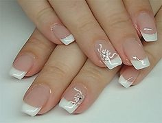 Nageldesign hochzeit galerie – – Source by Our Reader Score[Total: 0 Average: Related photos:Nail Designs for Spring Winter Summer Fall. 42 Nail Art Ideas All Girls Should T. French Tip Nail Designs, French Nail Art, Acrylic Nail Designs, Nail Art Designs, French Manicure Nails, My Nails, Bridal Nail Art, Wedding Nails Design, Nail Wedding
