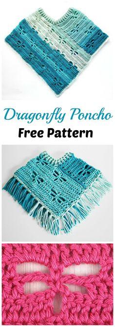 Crochet Dragonfly Poncho