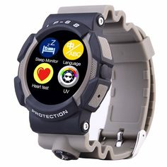 NO.1 A10 240*240px Heart Rate Monitor IP67 3-proof Smart Watch For iOS Android
