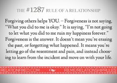 Forgiving others help you