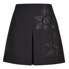 Fendi | Leather Applique Skirt
