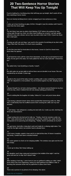 Two-sentence scary stories