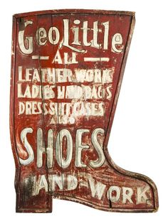 Geo Little Shoe sign