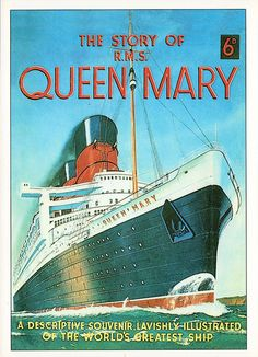 The Queen Mary Ocean liner.  Grammy Solberg traveled back to Norway on this several trips through the years; Mama went with her once, but was very young. sth