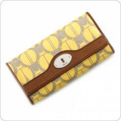 Fossil Geldbörse - Key-Per Flap Clutch - Yellow Multi