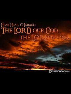 "Deuteronomy 6:4 ""The LORD our God""  http://www.biblegateway.com/passage/?search=Deuteronomy%206:4"