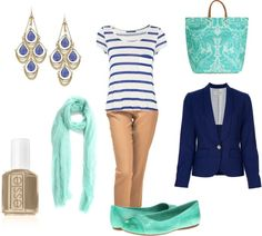 Casual nautical outfit to save for spring or summer!