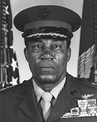 Frank E. Petersen Jr. (USMC) (born March 2, 1932 in Topeka, Kansas) is a retired United States Marine Corps Lieutenant General. He was the first African-American Marine Corps aviator and the first African-American Marine Corps general. #TodayInBlackHistory