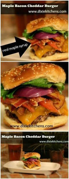 This burger is a monster, and I get hungry just looking at it. It includes some of my favorite things: maple syrup, maple bacon, and cheddar cheese on a meaty burger. Your husband will want to try this if he enjoys grilling.  Making this for him will almost guarantee a win, as it has passed the man-pleasing test.