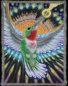 Art Blankets Online l Visionary Art Blankets l Surreal Psychedelic Art