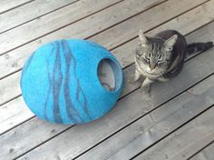 Cueva de gato moderno cama seguro gato gato cueva casa/feliz