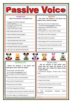 Passive voice (Present Simple) worksheet - Free ESL printable worksheets made by teachers