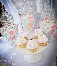 Gorgeous cupcakes at a Shabby Chic party! See more party ideas at CatchMyParty.com!