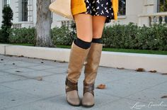 cute riding boots with long socks