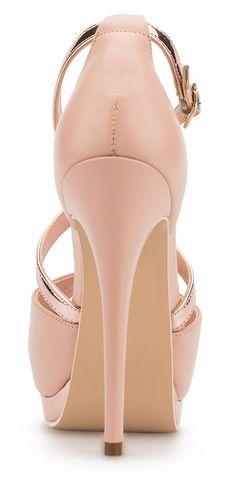 c4bb9f16 Elegantes Zapatillas Andrea De Piel Rosas Con Oro Rosa Altas - $ 1,099.00