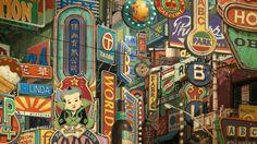 Ao no Exorcist Movie Backgrounds Exorcist Movie, Ao No Exorcist, Environment Concept Art, Environment Design, Ghibli, Anime City, City Background, Environmental Art, Japanese Art