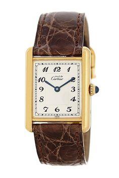 Vintage Cartier Women's Tank Gold Vermeil Watch by Donald E. Gruenberg Inc.