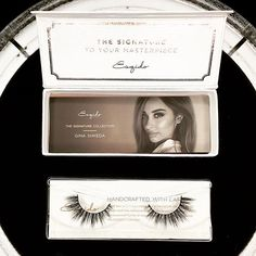 THE LOOK An ESQIDO exclusive lash style designed in collaboration with pro makeup artist Gina Shkeda. This style features winged out ends, with a mix of clustered and criss-crossed strands along the e