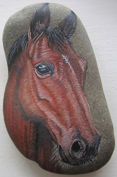 Painted Pebble Pet Portrait Commission - Large