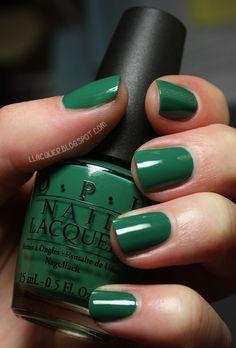 #OPI - #Jade Is The New Black #nails #nail #color #polish #nailcolor #nailpolish #green