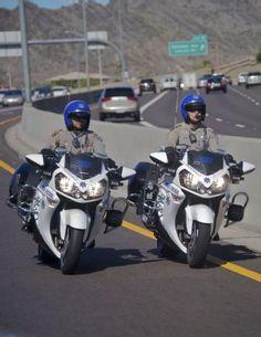Arizona Highway Patrol Kawasaki Motorcycles